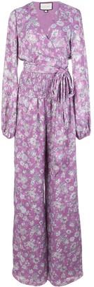 Alexis Shanice floral-print surplice jumpsuit