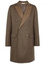 Boglioli Brown Wool Blend Coat