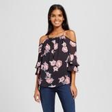 Cliche Women's Floral Cold Shoulder Blouse