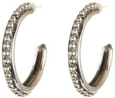 Stephen Dweck Sterling Silver Beaded Hoop Earrings