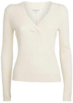 Claudie Pierlot Pointelle V-Neck Sweater