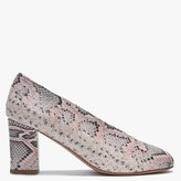 Daniel Aneso Pink Leather Reptile V Front Court Shoes