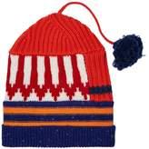 Burberry Cashmere Blend Knitted Pom Pom Hat