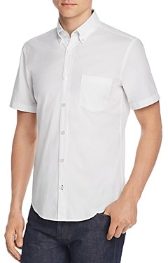 BOSS Roddy Short-Sleeve Slim Fit Dobby Button-Down Shirt