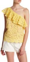 Blu Pepper One Shoulder Crochet Lace Blouse