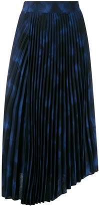 Vince tie-dye print pleated skirt