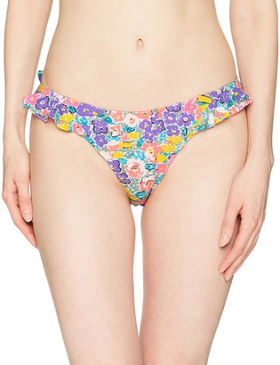 Body Glove Women's Hold On Retro High Hip Bikini Bottom Swimsuit