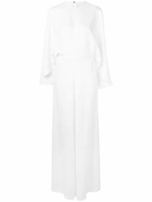 Sara Battaglia oversized drape style jumpsuit