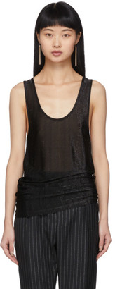 Saint Laurent Black Lurex Tank Top