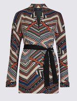 Marks and Spencer Long Sleeve Jacquard Print Jacket