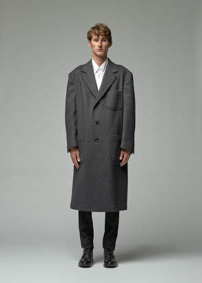 Thom Browne Military Cashmere Unconstructed Oversized Patch Pocket Overcoat