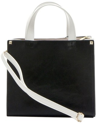 Un Billion UN Billion Two-Toned Square Crossbody Satchel Handbag