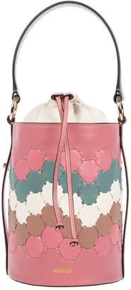 Mianqa Feride Cylinder Woven Bag Pink