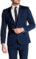 Nick Graham Blue Two Button Notch Lapel Stretch Modern Fit Suit Separates Jacket