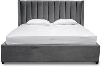 Calibre Furniture Wilson Bed Charcoal Grey King