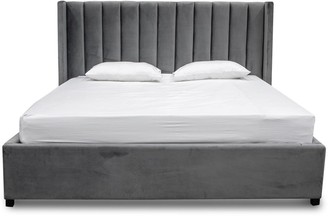 Wilson Bed Charcoal Grey King
