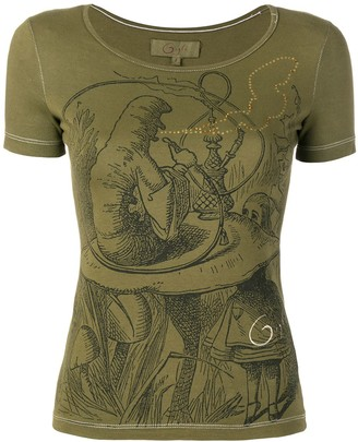 Romeo Gigli Pre Owned embellished print T-shirt