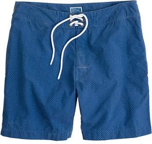 """J.Crew 7"""" Board Shorts In Indigo Blue Dot"""