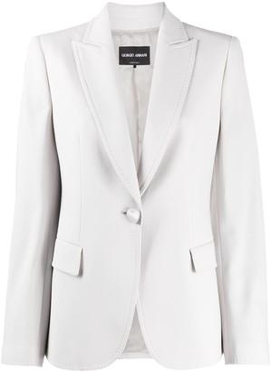 Giorgio Armani deep V-neck blazer