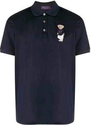 Ralph Lauren Purple Label Short Sleeve Bear Patch Polo Shirt