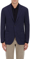 Barneys New York Men's Wool-Silk Two-Button Sportcoat-BLUE