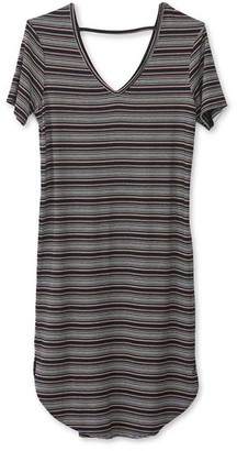 Kavu Women's Tee Shirt Dresses Night - Black & Gray Night Stripe Sachi T-Shirt Dress - Women