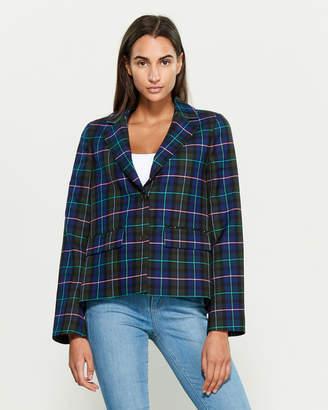 P.A.R.O.S.H. Virgin Wool-Blend Plaid Jacket