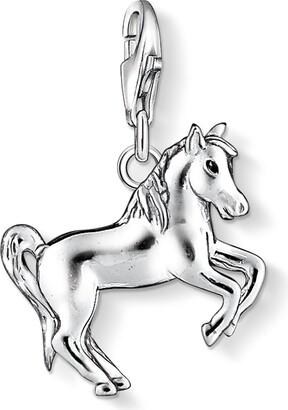 Thomas Sabo Women-Charm Pendant Horse Charm Club 925 Sterling Silver black 1074-007-12