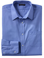 Classic Men's Tall Long Sleeve Herringbone Shirt-True Blue