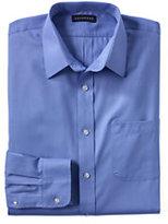 Lands' End Men's Regular Long Sleeve Herringbone Shirt-Loganberry