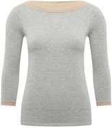 M&Co Petite slash neck jumper