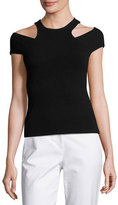 Michael Kors Sleeveless Racer-Cutout Tank, Black