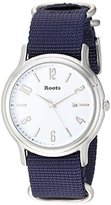 Roots 'Core' Quartz Stainless Steel and Nylon Casual Watch, Color: Blue (Model: 1R-PR201WH7U)