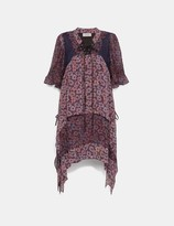 Coach Mini Tiered Dress With Lacing
