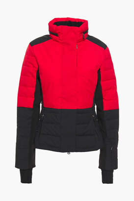 Erin Snow Quilted Two-tone Shell And Stretch-jersey Ski Jacket