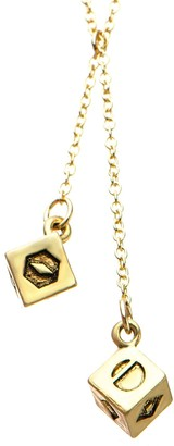 Star Wars Jewelry Women's Base Metal 3D Golden Dice Pendant Necklace