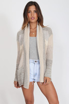 Goddis Colette Textured Cardigan In Cream Haze