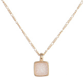 Marcia Moran Pink Druzy Necklace