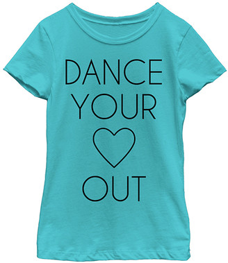 Fifth Sun Girls' Tee Shirts TAHI - Tahiti Blue 'Dance Your Heart Out' Tee - Girls