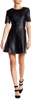 Tart Carla Faux Leather Skater Dress