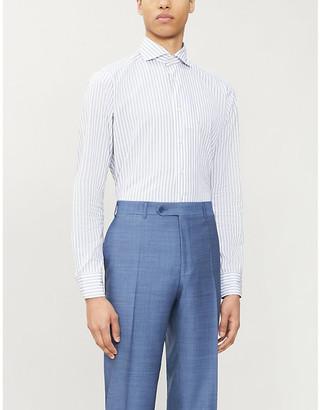 Eton Slim-fit striped cotton-blend shirt