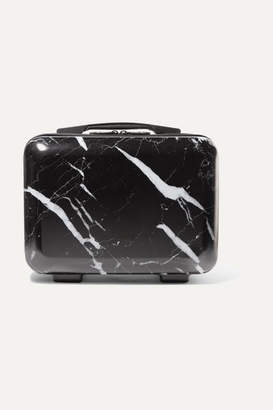 CalPak Astyll Marbled Hardshell Vanity Suitcase - Black