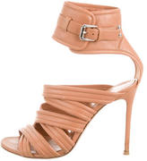 Gianvito Rossi Leather Cage Sandals