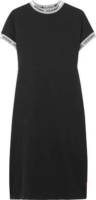 Opening Ceremony Ribbed Knit-trimmed Cotton-jersey Mini Dress