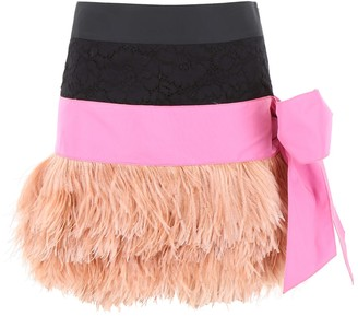 N°21 N.21 Mini Skirt With Feathers
