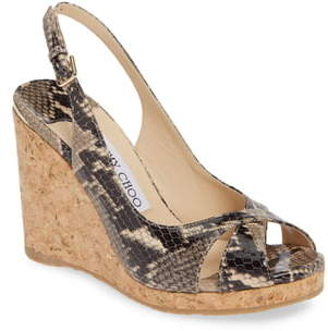 34b9e021bd Jimmy Choo Cork Wedge Women's Sandals - ShopStyle