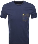 Lyle & Scott Contrast Check Pocket T Shirt Navy