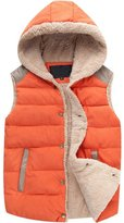 LANROON Women's Winter Casual Thick Hooded Waistcoat Vest, XL