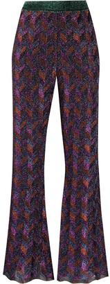 M Missoni Zig-Zag Flared Knit Trousers
