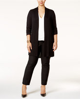 Alfani Plus Size Open-Front Textured Cardigan, Only at Macy's
